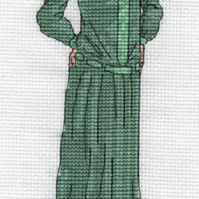 KL168 1920s Day Dress Cross Stitch Kit designed by Vanessa Wells