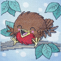 KL32 Merry Robin Cross Stitch Kit designed by Vanessa Wells