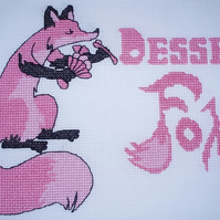 KL147 Dessert Fox Cross Stitch Kit designed by Vanessa Wells
