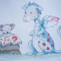 KL67 Story Time Cross Stitch Kit designed by Genny Haines (Dragon & Koala Bear)