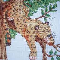 KL80 Leopard Cross Stitch Kit designed by Vanessa Wells