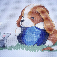KL58 Lets Play  - Sam & Peeps Cross Stitch Kit designed by Genny Haines