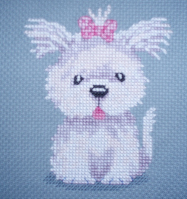 KL89 Cassie  - Dog Cross Stitch Kit designed by Genny Haines