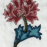 KL46 Morris Chrysanthemum Cross Stitch Kit by Goldleaf Needlework