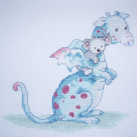 KL66 Dillon & Ko Cross Stitch Kit designed by Genny Haines (Dragon & Koala Bear)