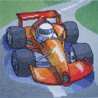 KL69 Racing Car Cross Stitch Kit designed by Vanessa Wells