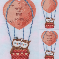 KL159 Up Up and Away! Owl Sampler Cross Stitch Kit designed by Genny Haines