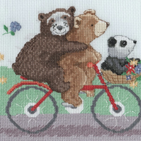 KL171 Three Bears on a Bike Cross Stitch Kit designed by Genny Haines