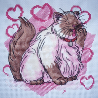 KL60 Well Groomed! Cat Cross Stitch kit designed by Vanessa Wells