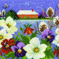 DMC BK1679 Winter Garden Cross Stitch Kit designed by Lesley Teare