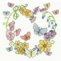 DMC BK1674 Butterflies in Bloom Cross Stitch Kit designed by Lesley Teare