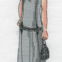 KL169 1920s Cocktail Dress Cross Stitch Kit designed by Vanessa Wells