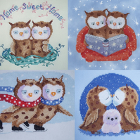 Mr & Mrs Tooting Owls Cross Stitch Chart Pack designed by Genny Haines