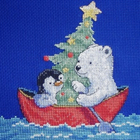 KL78 Transporting the Tree Cross Stitch Kit designed by Genny Haines
