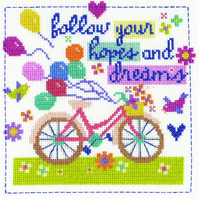 DMC BK1657 Follow your hopes and dreams Cross Stitch Kit  by Jayne Schofield