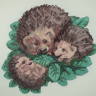 KL92 Happy Families!  Hedgehog Cross Stitch kit designed by Vanessa Wells