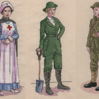 World War One Cross Stitch Chart Pack designed by Vanessa Wells