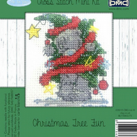 DMC Tatty Teddy Christmas Tree Fun Mini Cross Stitch Kit