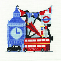 DMC BK1651 London Sight-Seeing Cross Stitch Kit designed by Durene Jones