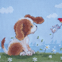 KL65 Windy Day  - Sam & Peeps Cross Stitch Kit designed by Genny Haines