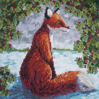 KL41 Brush with a Fox Cross Stitch Kit designed by Vanessa Wells