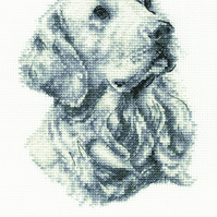 DMC BK1685 Golden Retriever Cross Stitch Kit from the Dog Collection at DMC