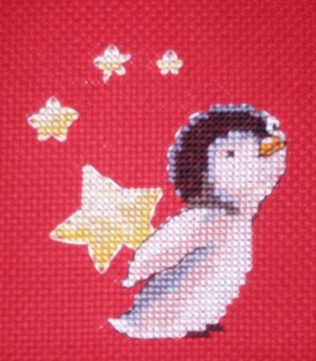 KL76 Starstruck Penguin Cross Stitch Kit designed by Genny Haines