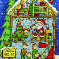 DMC BK1697 Santa's Grotto Cross Stitch Kit designed by Durene Jones