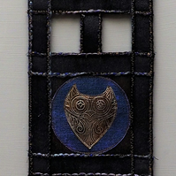 OHM412 - Triple Owl Wall Hanging - 15x54cm (overall length 80cm)