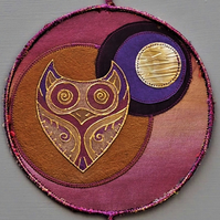 OMVM433 - Owl Moon Mandala - Plum - Gold - Old Gold