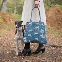 Whippet design Oilcloth Tote Bag