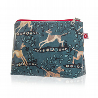 Whippet design Oilcloth Washbag