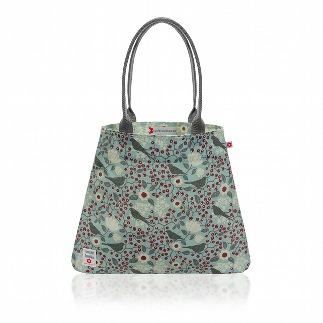 Rowan Bird design Oilcloth Tote Bag
