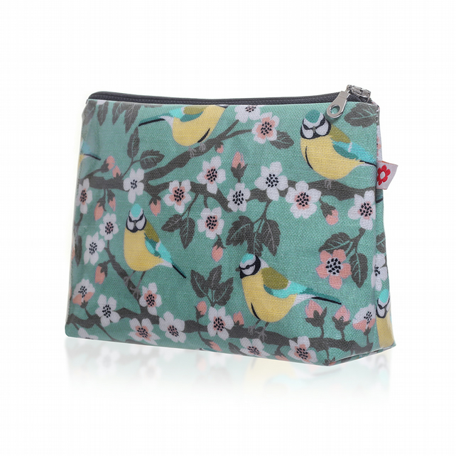 Blue Tit  design Oilcloth Washbag