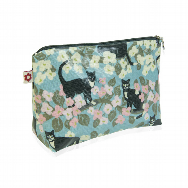 Mr.Tibbs design Oilcloth Washbag