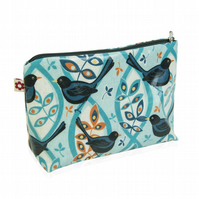 Blackbird design Oilcloth Washbag