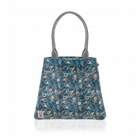 Paisley Navy design Oilcloth Tote Bag