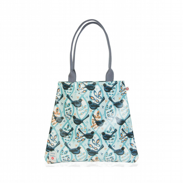 Blackbird design Oilcloth Tote Bag