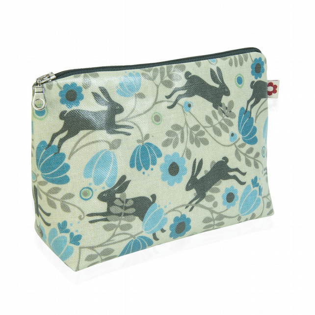 Wild Hare Cream design Oilcloth Washbag