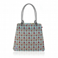 Leaf design Oilcloth Tote Bag