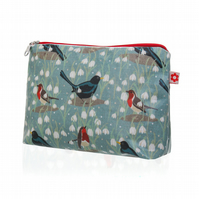 Snowdrop design Oilcloth Washbag