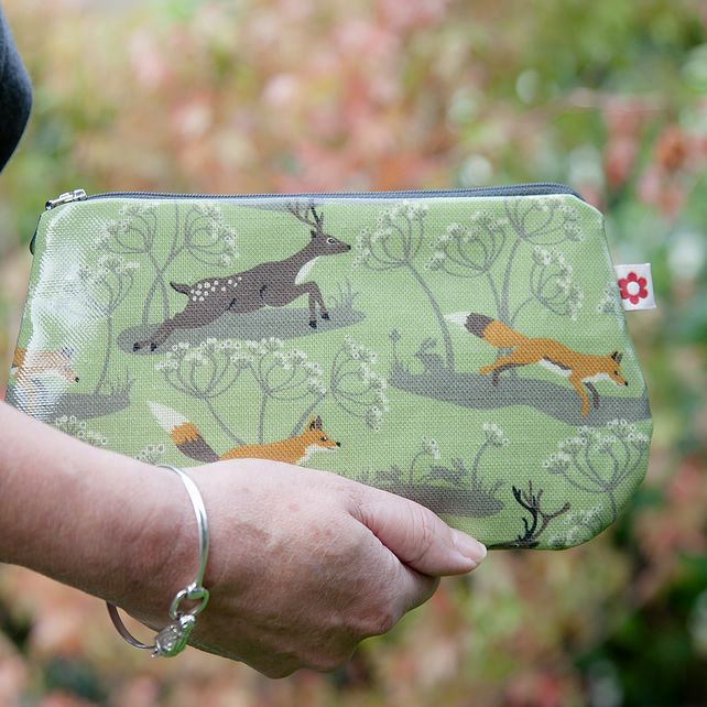 Fox & Deer design Oilcloth Purse