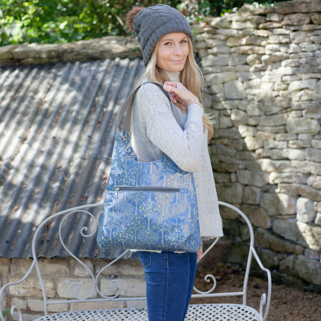 New! Bloom Denim Oilcloth Shoulder Bag