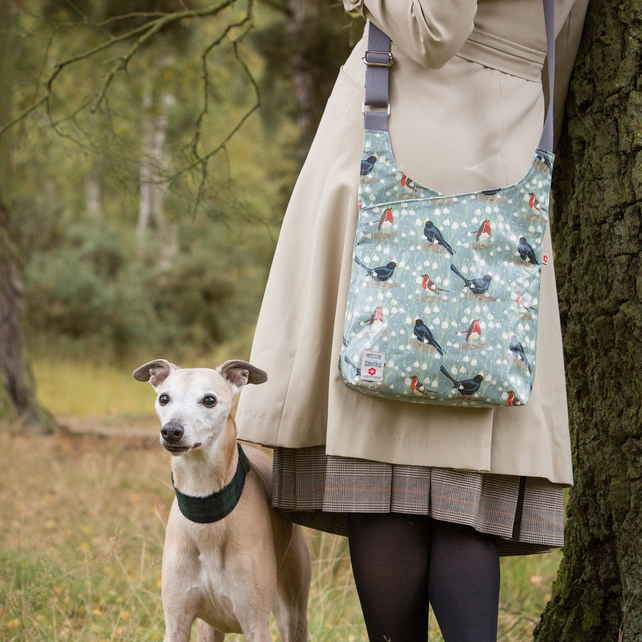 Snowdrop Oilcloth Cross Body Bag