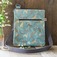 Scruffy Dogs Oilcloth Messenger Bag
