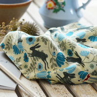 Wild Hare Blue Scarf