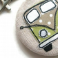 Splitscreen Campervan Fabric Scribble Keyring - Choose from seven colourways.