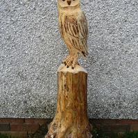 Chainsaw..wood carving ...Garden sculpture owl barn owl