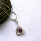 Wire-wrapped Amethyst Swarovski Crystal Pendant Necklace