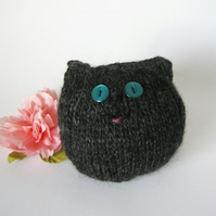 Hand Knitted Cuddly Cat, Magnus